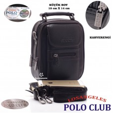 Los Angeles Polo Club ÇELİK KASALI ERKEK EL ÇANTASI BASIN KÜÇÜK BOY
