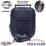 Los Angeles Polo Club Çelik Kasalı Erkek EL Çantası Basın Orta Boy