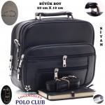 Los Angeles Polo Club Çelik Kasalı Erkek EL Çantası Yan Büyük Boy